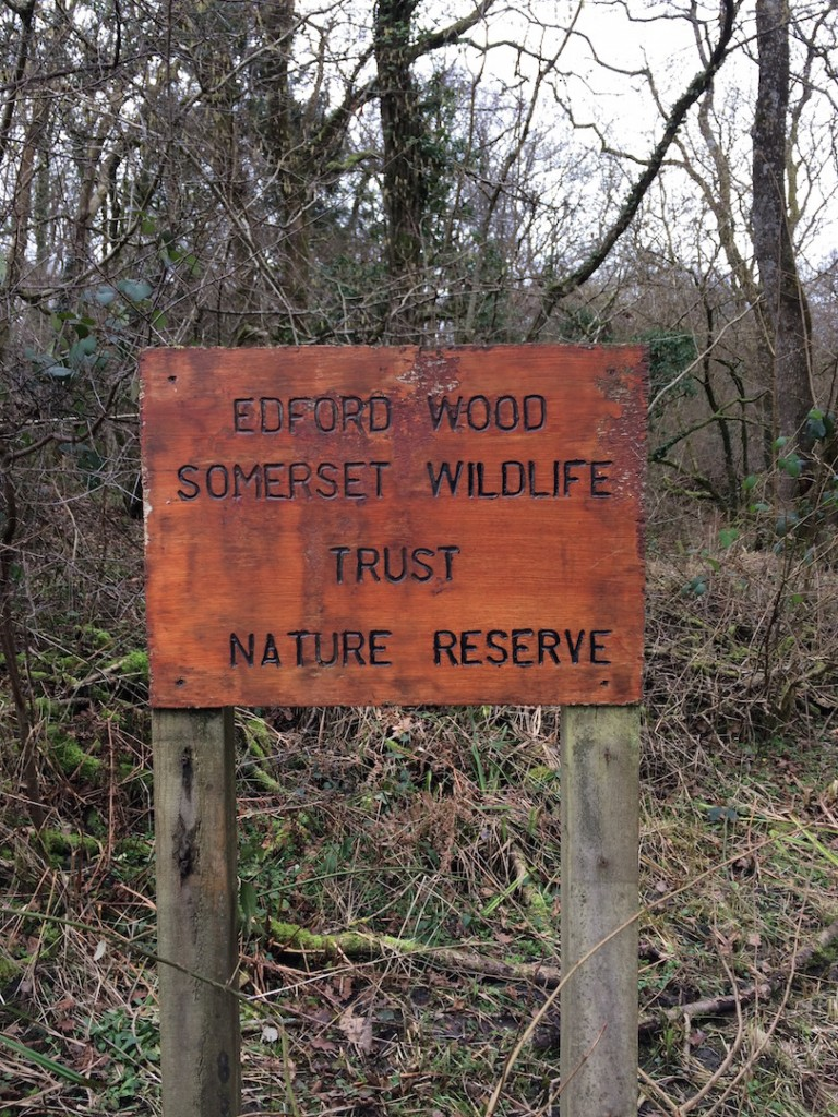 Somerset Wildlife Trust Nature reserve sign