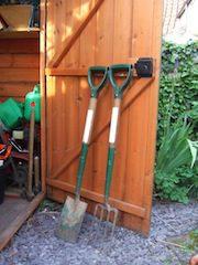 Gardening fork & spade