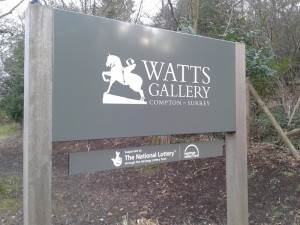 Watts Gallery Entrance Sign