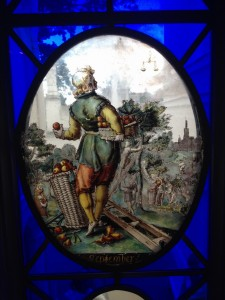 apple stained glass, Strawberry Hill